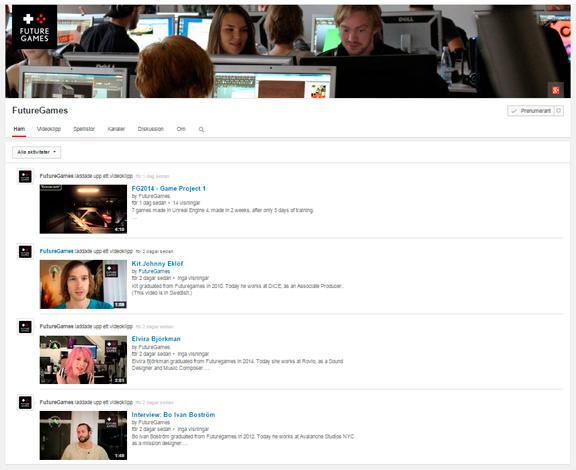 FutureGames on YouTube